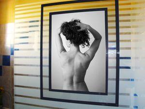 Slimpy® classique, format intérieur A3 sur une porte de douche